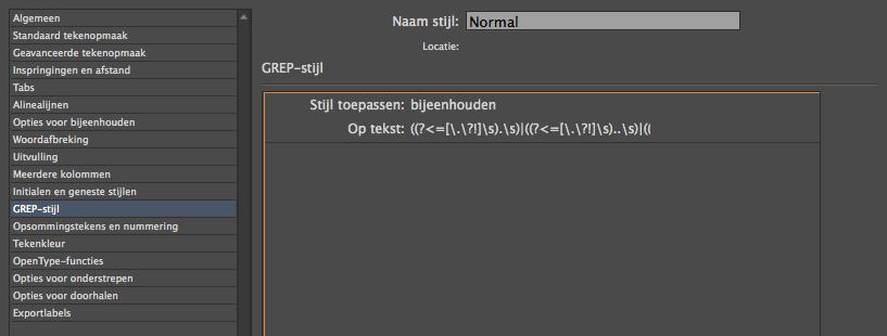 ePub gebruikt GREP