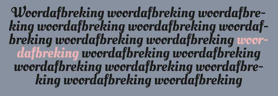 InDesign woordafbreking