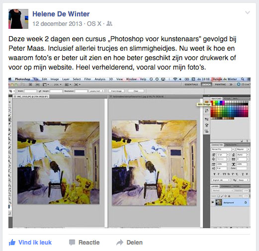 Photoshop voor beeldende kunst