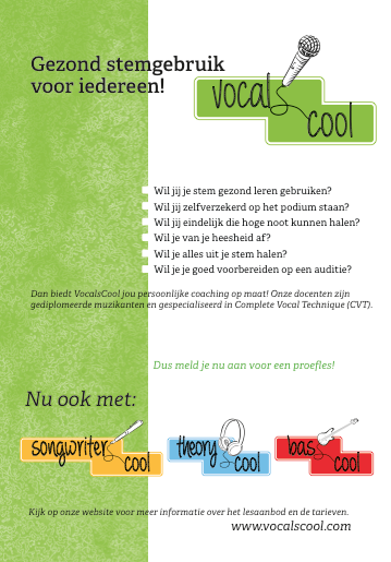 Flyer en logo's VocalScool