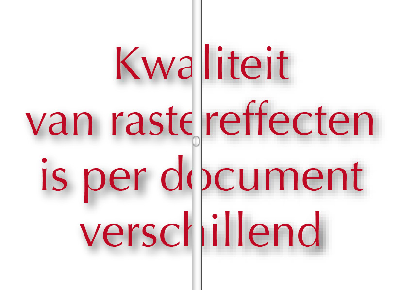 Illustrator raster effecten document: pixels en transparantie in Adobe Illustrator
