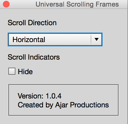 Scrolling frames Ajar Productions