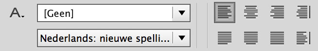 Taalkeuze InDesign spellingscontrole