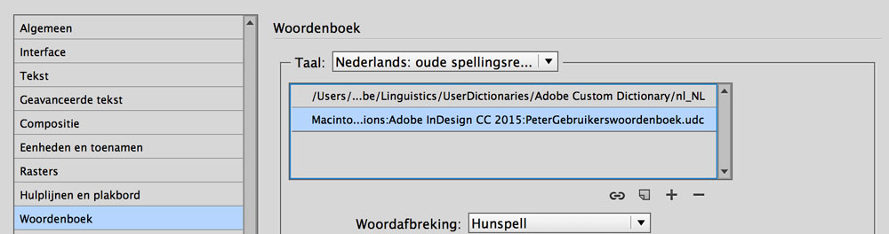 spellingscontrole InDesign