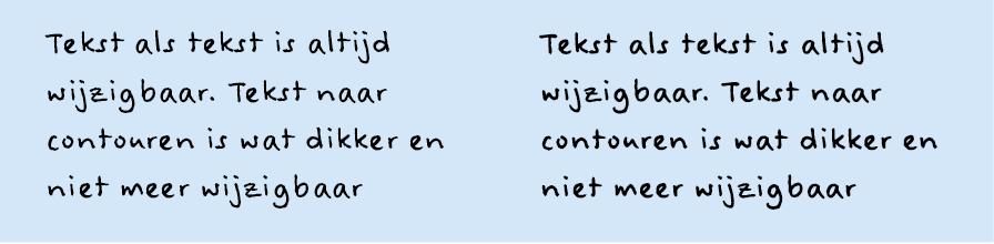 Tekst naar contouren in InDesign